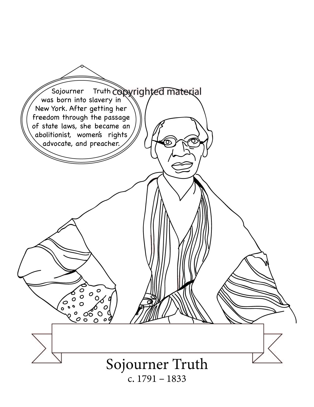 USA-Printables: Booker T Washington Coloring Pages - Famous ... | 1650x1275